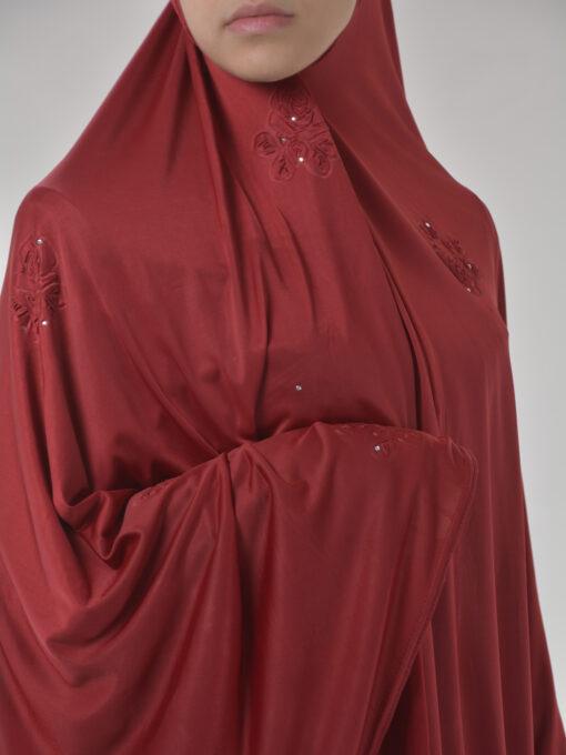 Rhinestone Floral-Imprint Al-Amira KhimarHijab HI2106 (12)