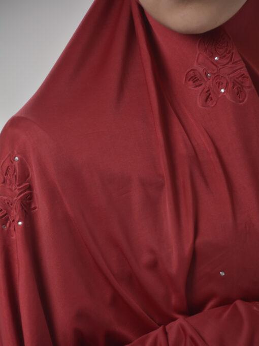 Rhinestone Floral-Imprint Al-Amira KhimarHijab HI2106 (13)