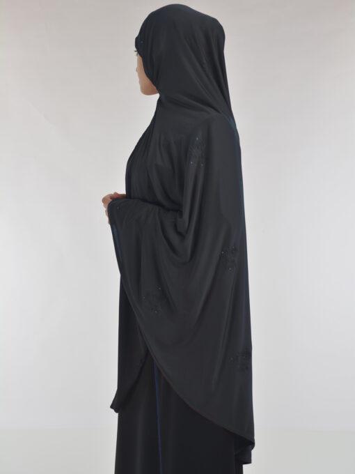 Rhinestone Floral-Imprint Al-Amira Khimar Hijab HI2106 (6)