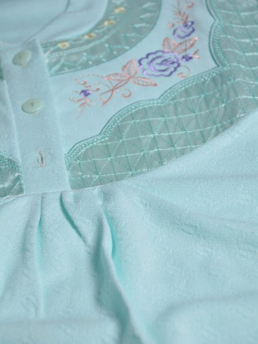 Rose Embroidered Cotton Nightgown NG102 (2)