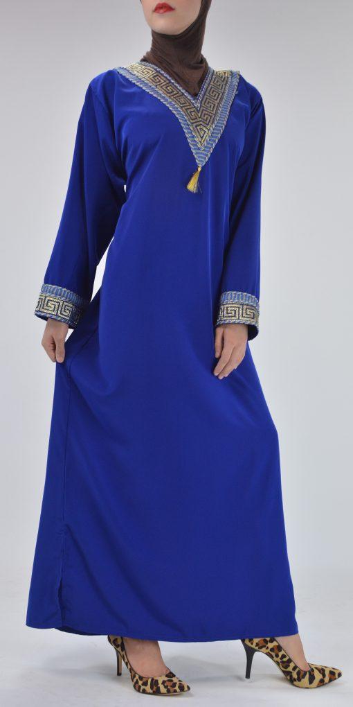 Royal Blue Syrian Duster Bisht Abaya (2)