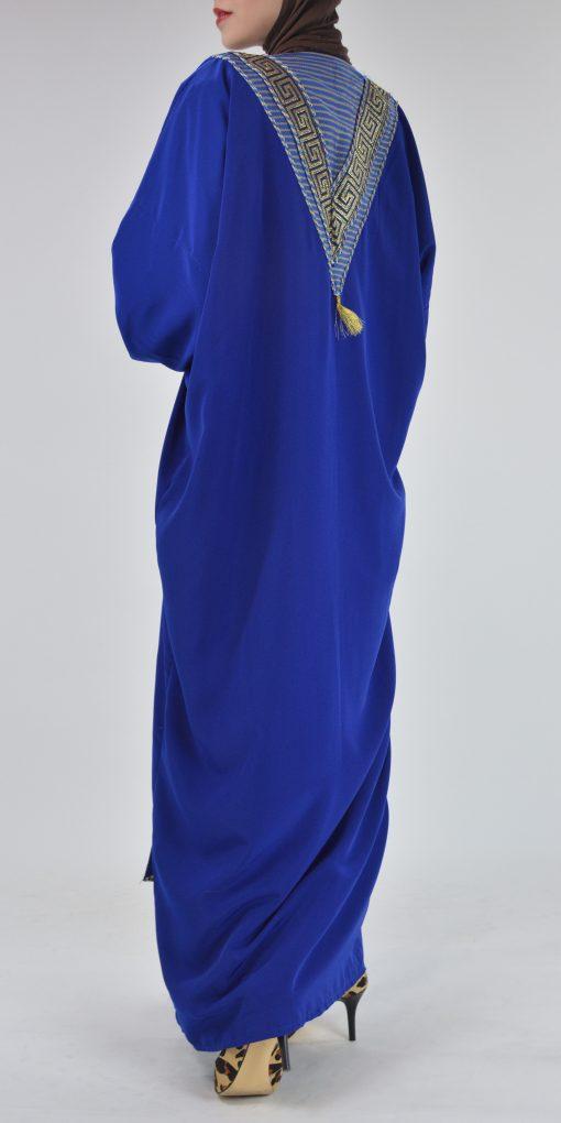 Royal Blue Syrian Duster Bisht Abaya (4)