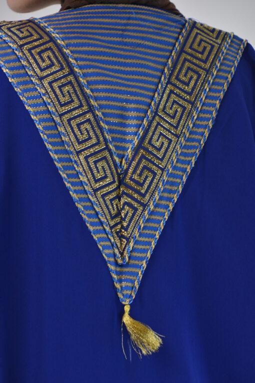 Royal Blue Syrian Duster Bisht Abaya (5)