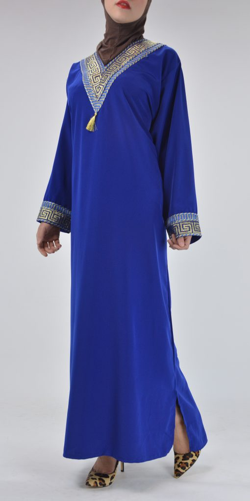 Royal Blue Syrian Duster Bisht Abaya