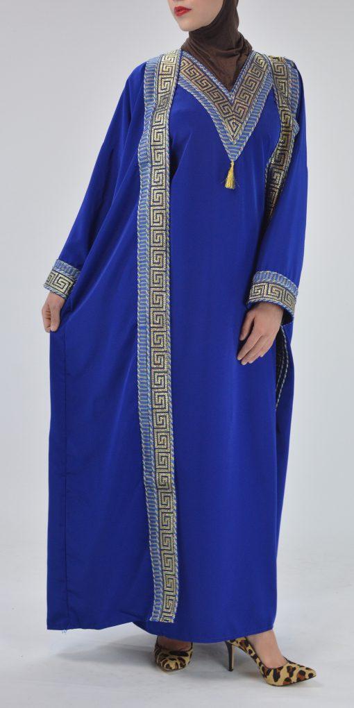 Royal Blue Syrian Duster Bisht Abaya (6)