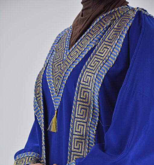 Royal Blue Syrian Duster Bisht Abaya (7)