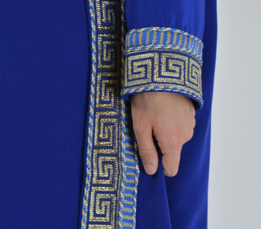 Royal Blue Syrian Duster Bisht Abaya (8)