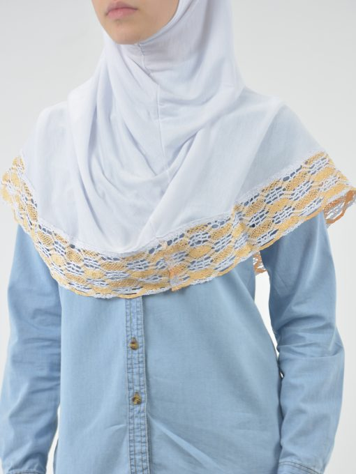 Solid Color Knit Lined Two-Piece Bonnet Al-Amira Hijab HI2118 (2)