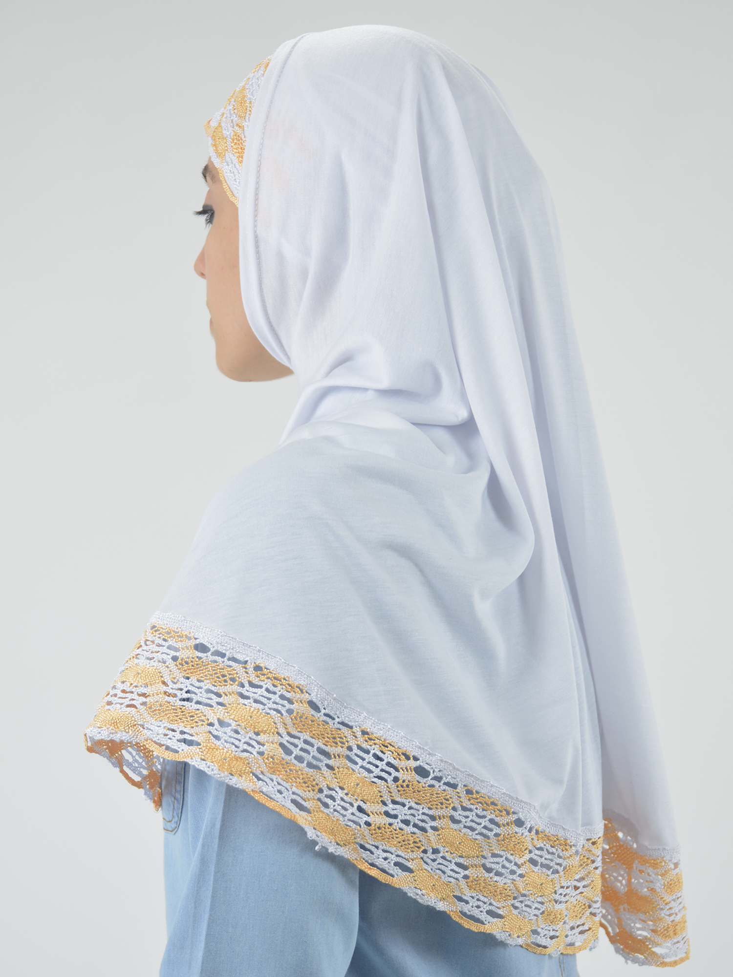 Solid Color Knit Lined Two-Piece Bonnet Al-Amira Hijab HI2118 (3)