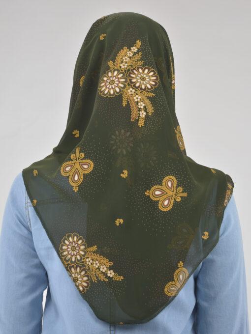 Speckled Paisley Wheat Print Square Hijab HI2123 (4)