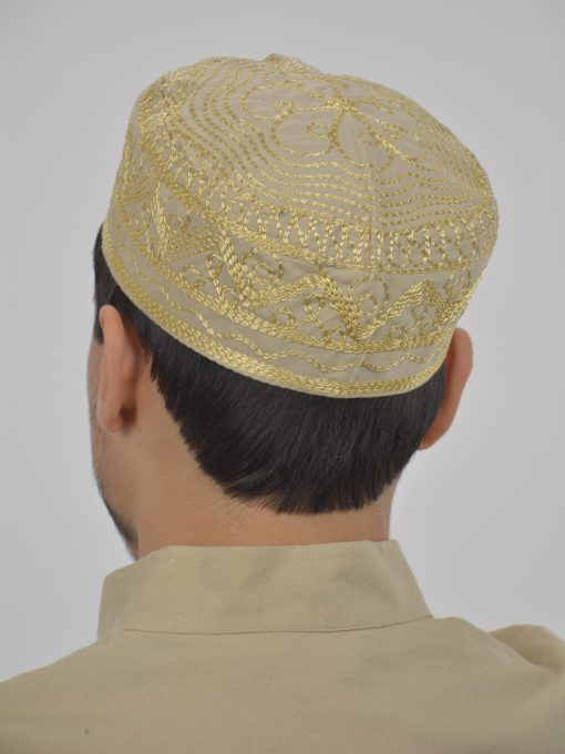 Spiraling Zigzags Embroidered Kufi ME737 (2)