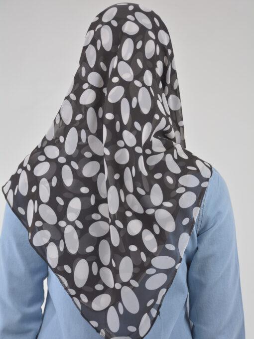 Spotlight Black & White Square Hijab HI2125 (2)