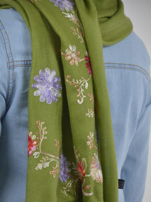 Tasseled Floral Sprouts Shayla Wrap Hijab HI2127 (6)
