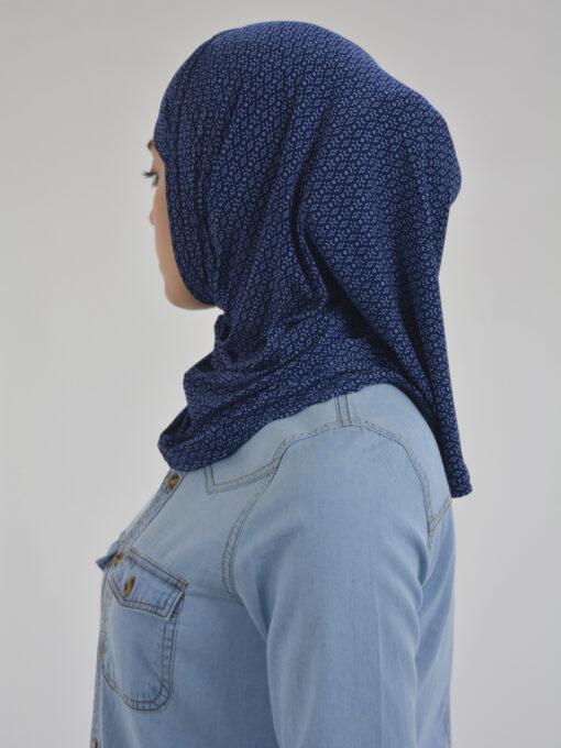 X Pattern Two Piece Al-Amira Hijab HI2117 Navy 1