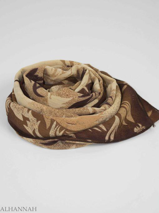 Branching Leaves Print Square Hijab HI2150 (1)