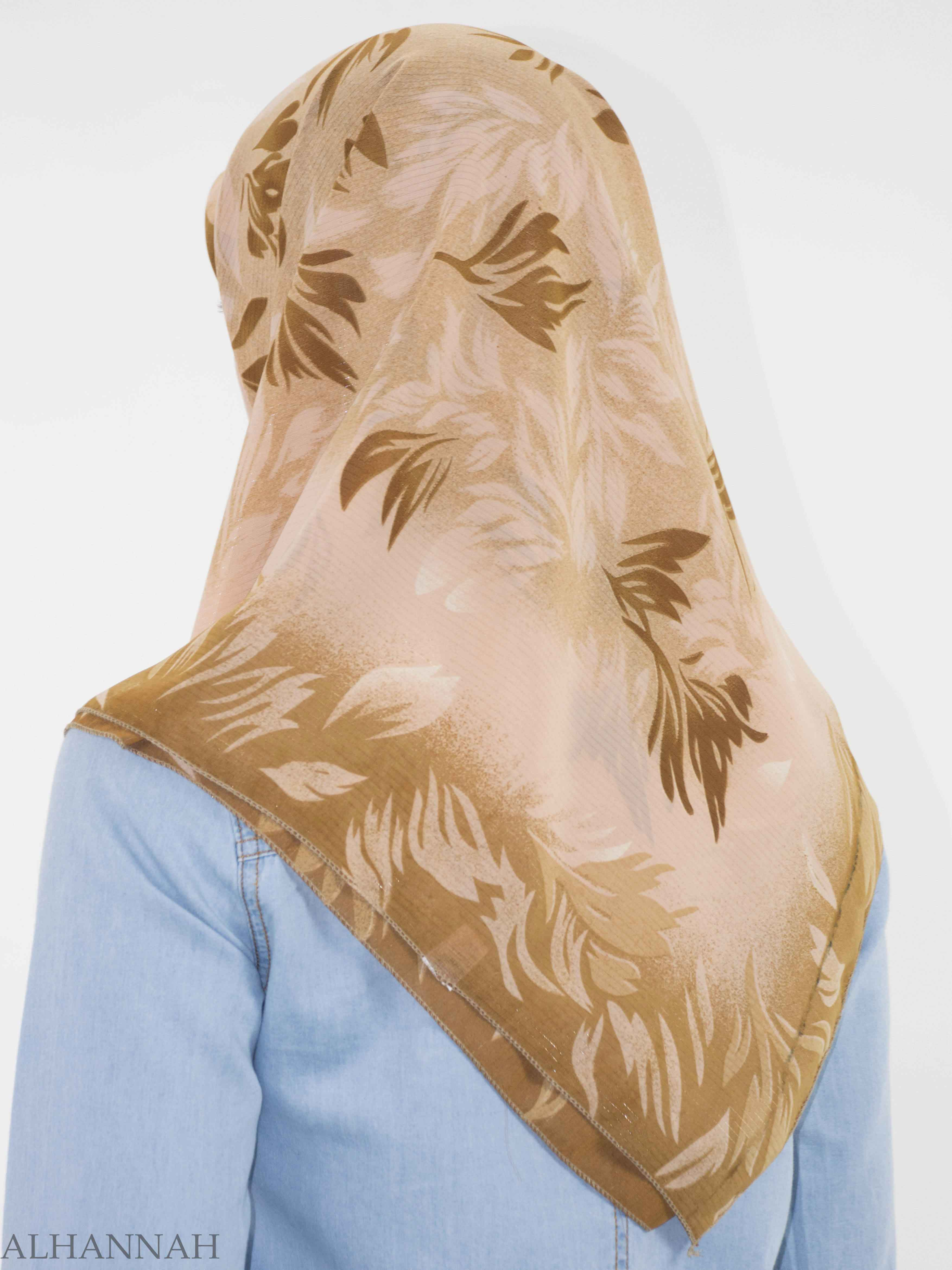 Branching Leaves Print Square Hijab HI2150 (3)