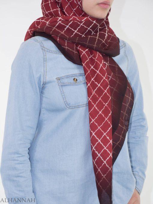 Checkered Square Hijab HI2149 (1)