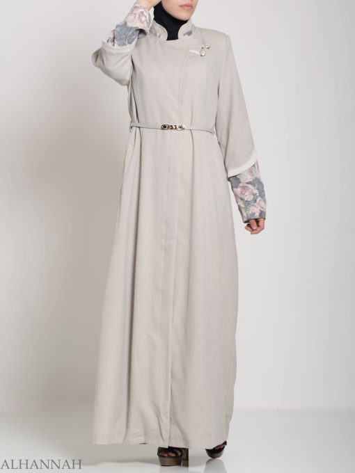Floral Tailored Button-up Jilbab ji660 (1)