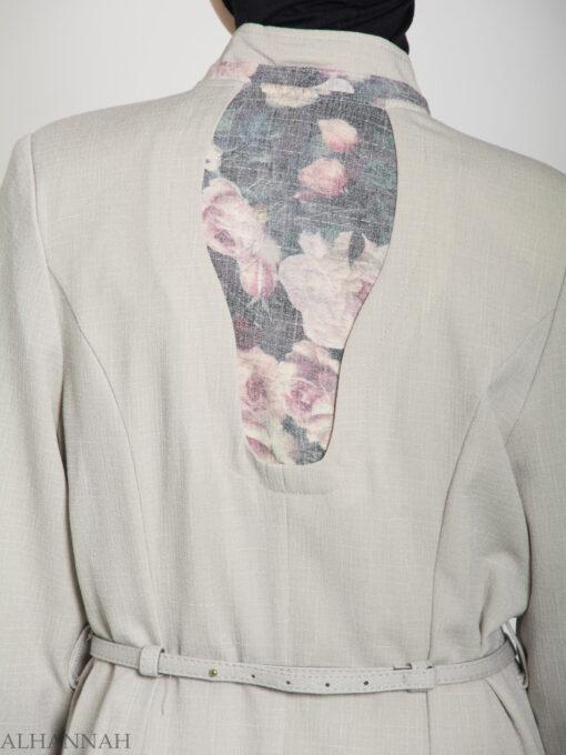Floral Tailored Button-up Jilbab ji660 (11)