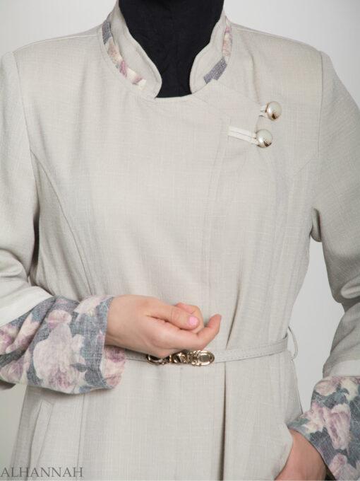 Floral Tailored Button-up Jilbab ji660 (12)