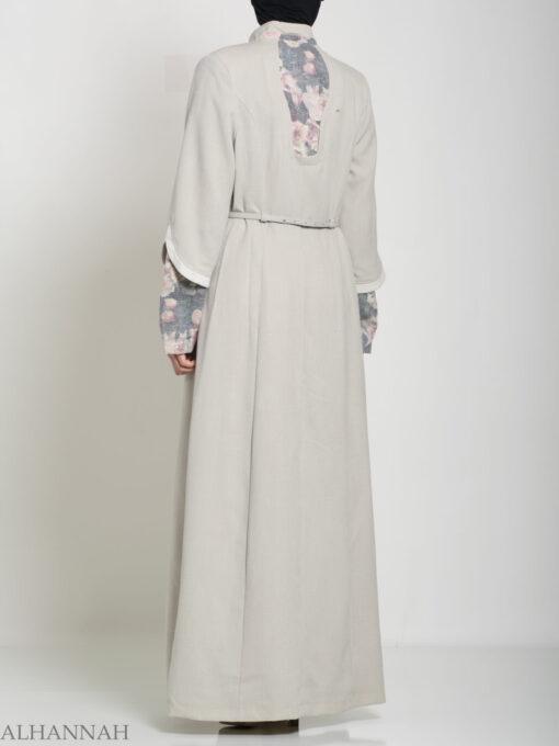 Floral Tailored Button-up Jilbab ji660 (14)