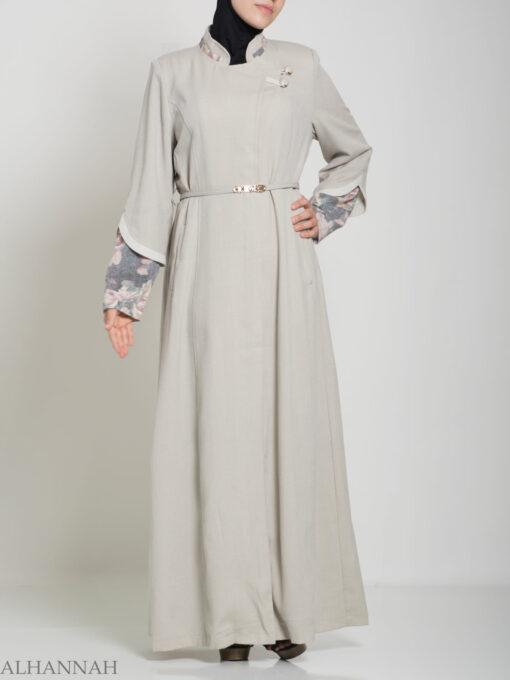 Floral Tailored Button-up Jilbab ji660 (15)
