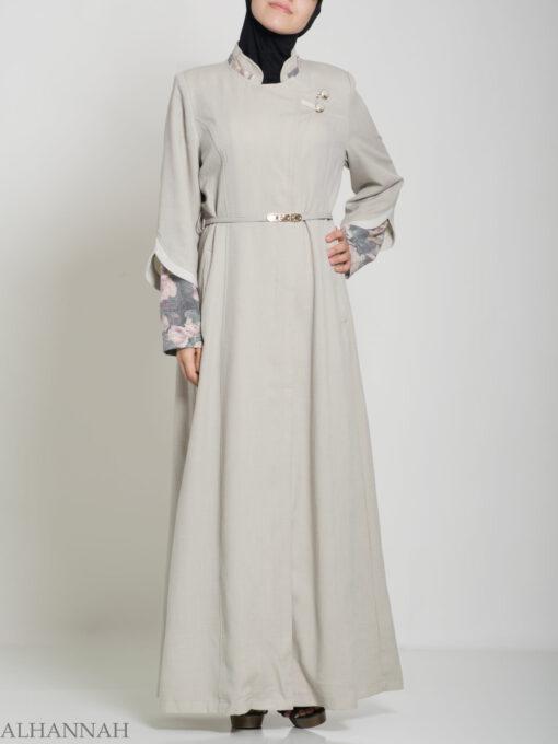 Floral Tailored Button-up Jilbab ji660 (16)