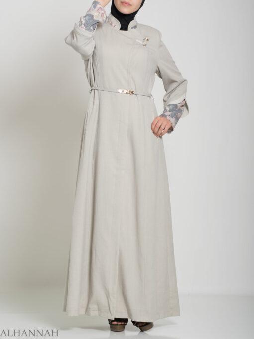 Floral Tailored Button-up Jilbab ji660 (17)