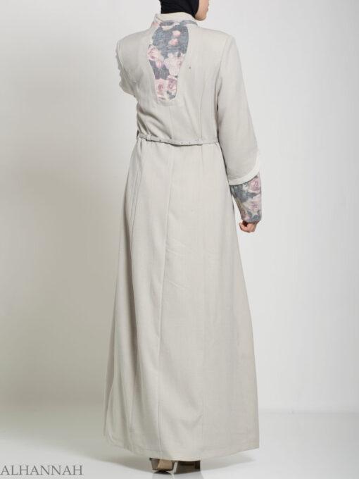 Floral Tailored Button-up Jilbab ji660 (18)