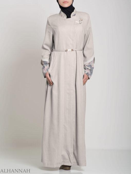 Floral Tailored Button-up Jilbab ji660 (2)