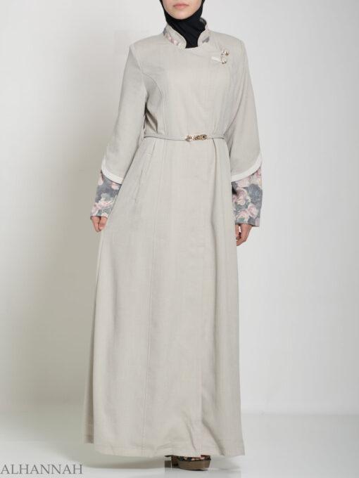 Floral Tailored Button-up Jilbab ji660 (5)