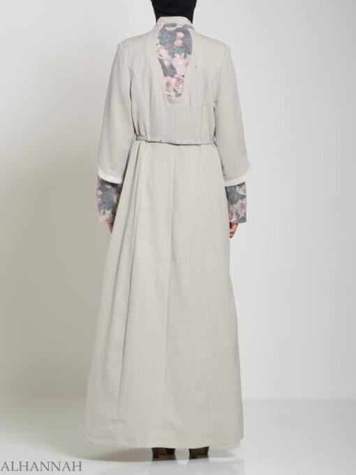 Floral Tailored Button-up Jilbab ji660 (6)