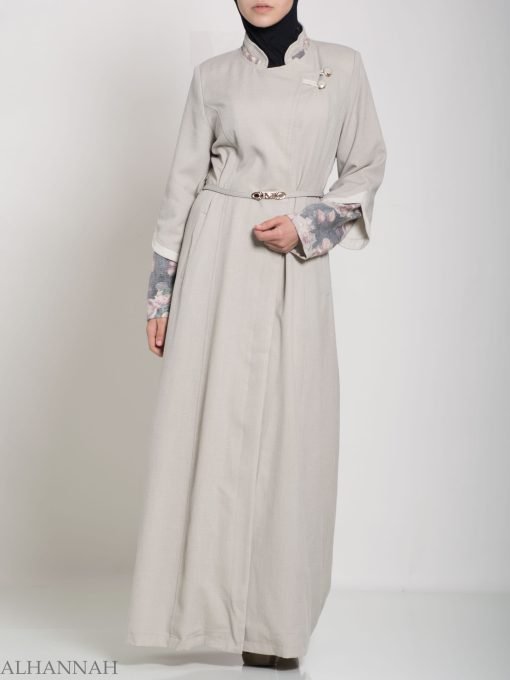 Floral Tailored Button-up Jilbab ji660 (7)