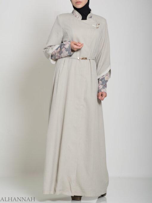 Floral Tailored Button-up Jilbab ji660 (8)