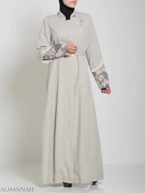 Floral Tailored Button-up Jilbab ji660 (9)