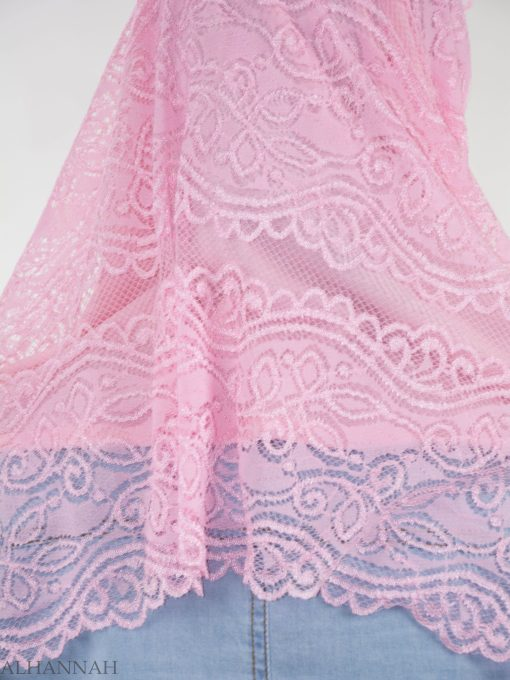 Floral Vines Lace Kuwaiti Wrap Hijab HI2143 (4)