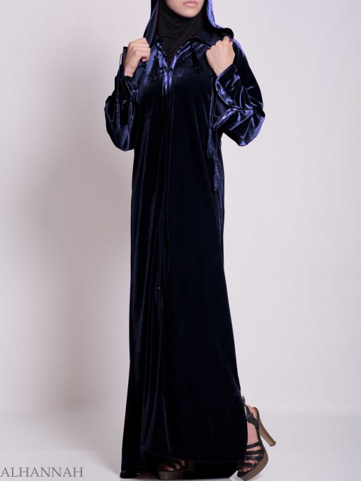 Hooded Laced Syrian Velvet Thobe TH791 (5)