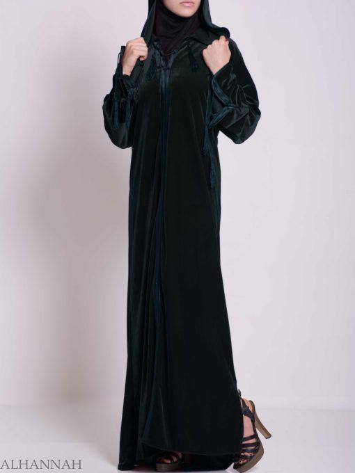 Hooded Laced Syrian Velvet Thobe TH791 (6)