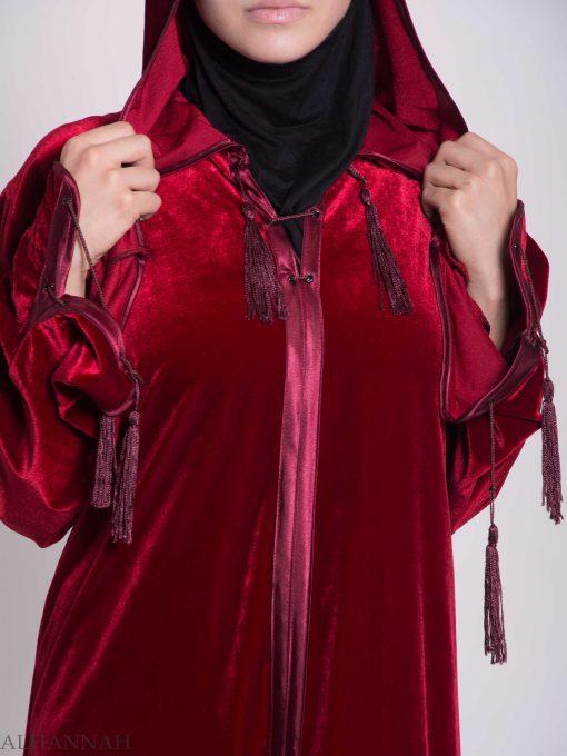 Hooded Laced Syrian Velvet Thobe TH791 (7)