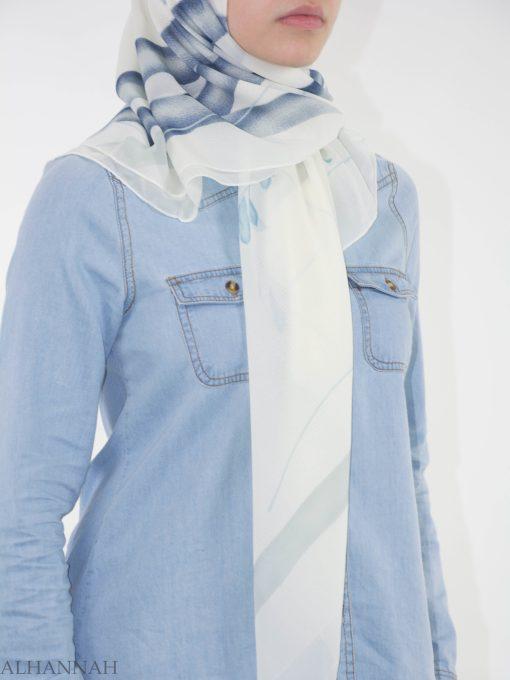 Looped Floral Square Hijab HI2151 (2)