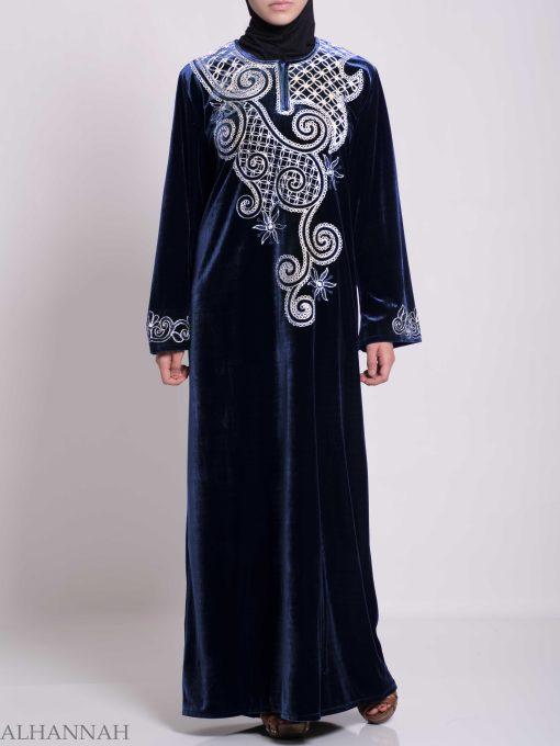 Swirled Day Lillie's Embroidered Syrian Velvet Thobe TH790 (7)