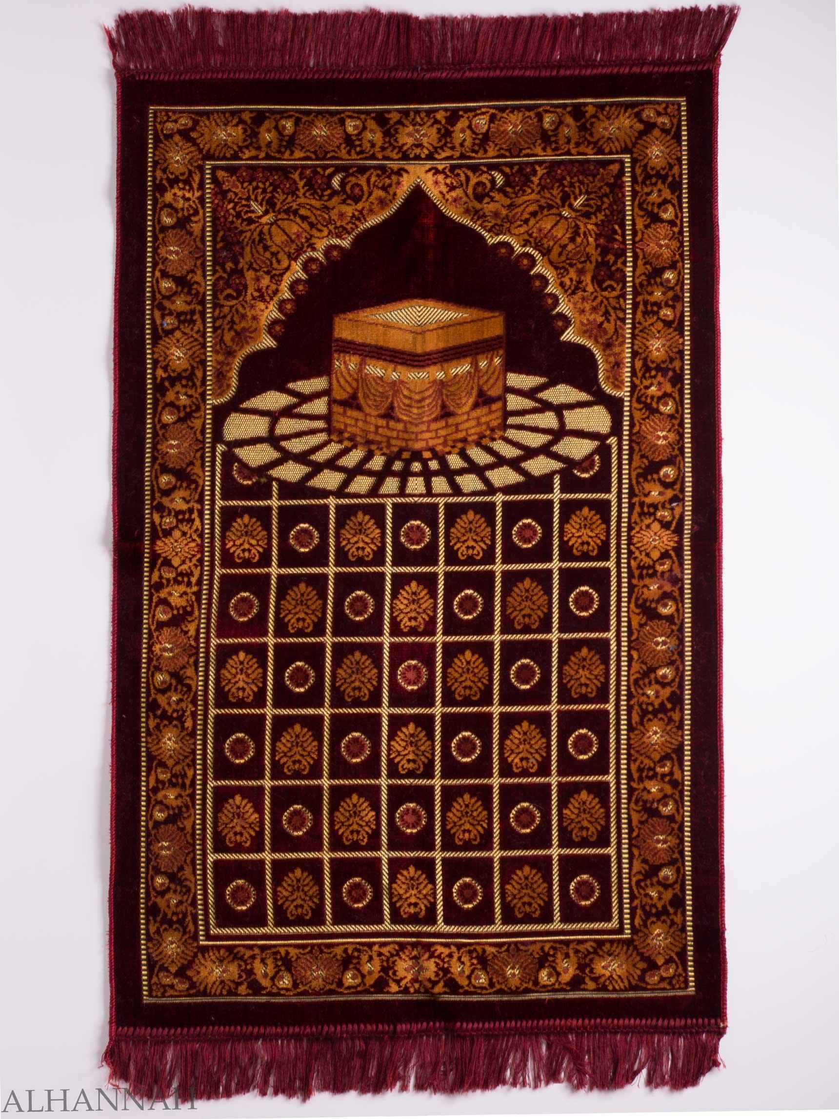 Turkish Prayer Rug Checkered Arched Kaaba Motif ii1133