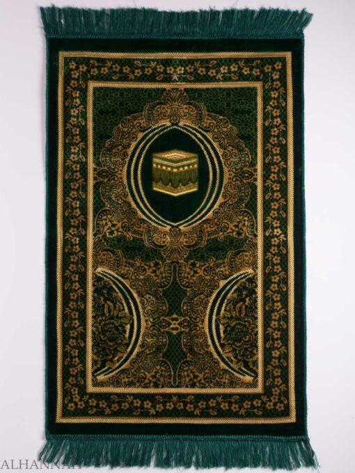 Turkish Prayer Rug Green Floral Kaaba Motiff ii1126