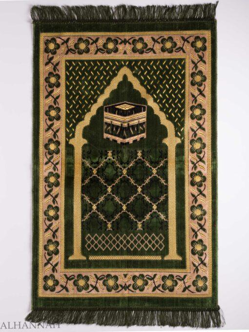 Turkish Prayer Rug Olive Arched Pagoda Kaaba Motif ii1135
