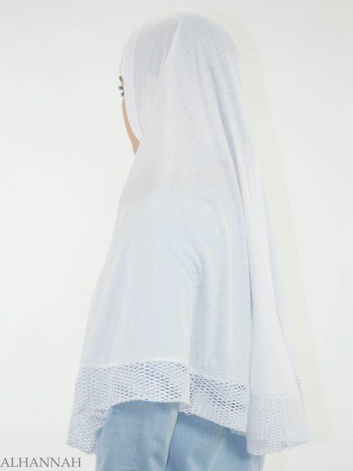 White Crochet One-Piece Al-Amira Hijab HI2136 (1)