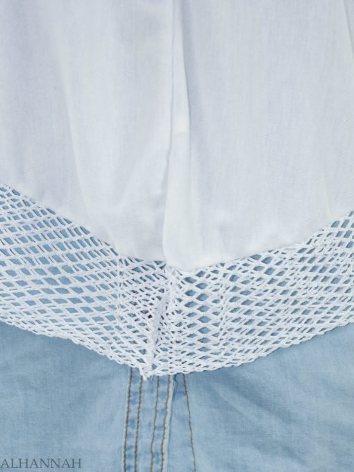 White Crochet One-Piece Al-Amira Hijab HI2136 (3)