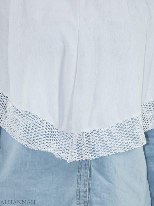 White Crochet One-Piece Al-Amira Hijab HI2136 (4)