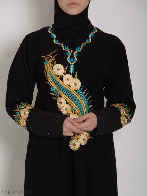 Authentic Khaliji Pull Over Abaya ab578 (8)