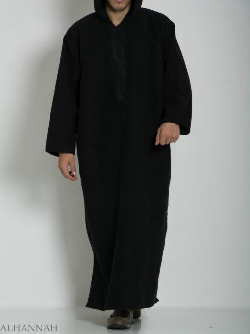 Premium Wool blend Moroccan Hooded Thobe ME753 (1)