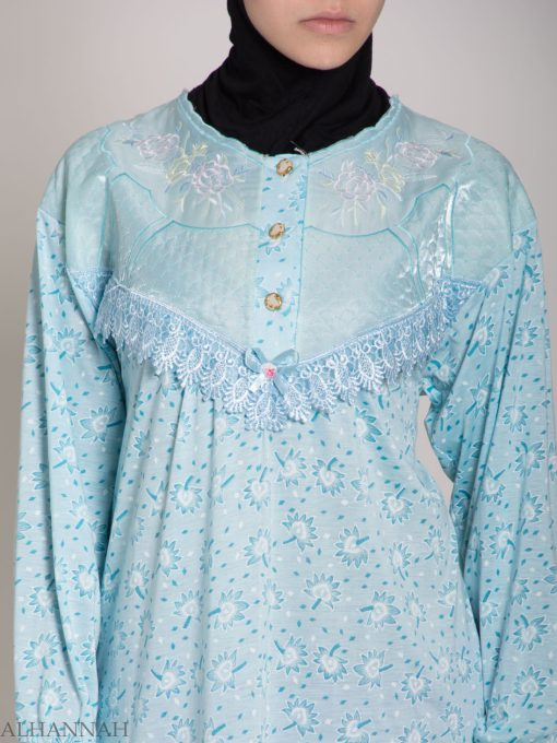 Speckled Dandelion Embroidered Cotton Nightgown NG108 (6)